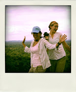 Cristina and Jenny on the top of the Voltzberg in Suriname!