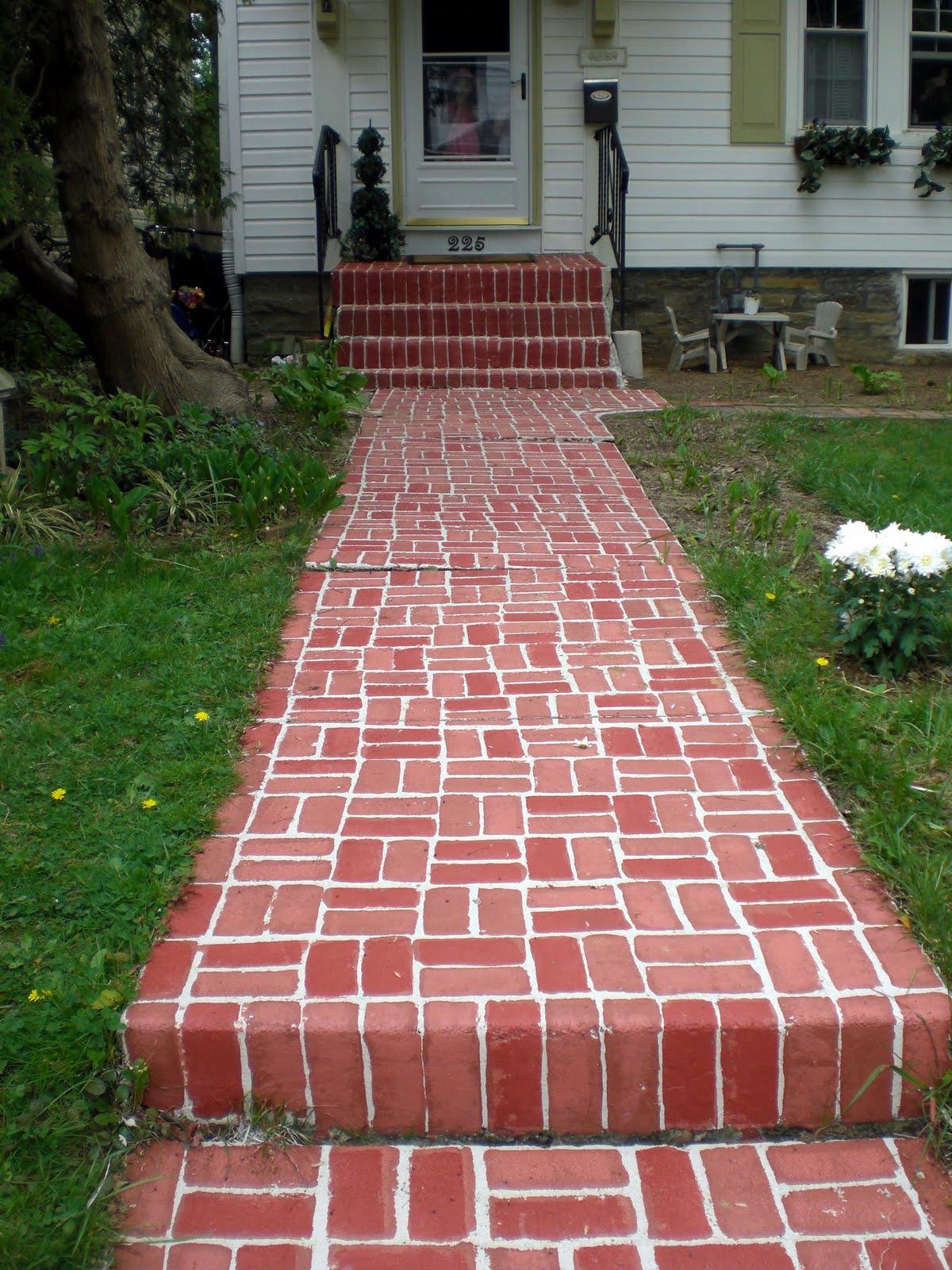 Brick Floor Paint : Painted brick walkway the home by denise sabia