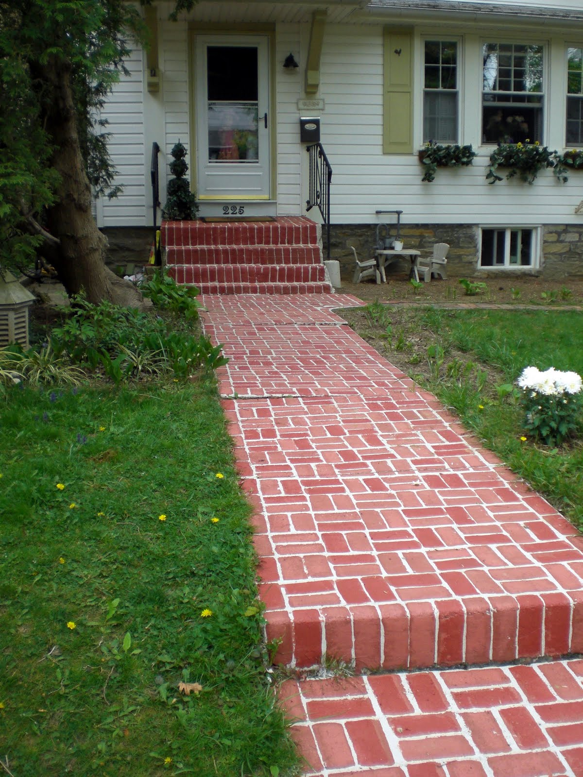 {Painted Brick Walkway}