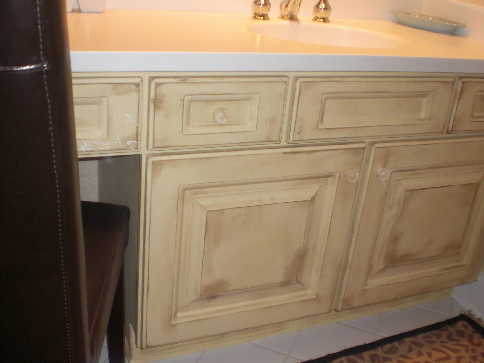 How to upgrade a builder 39 s grade vanity the painted home for Funky bathroom vanities