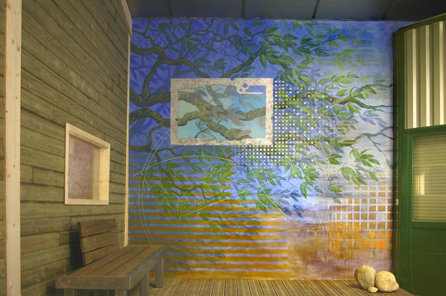 Guy sahuc peinture et d cors peinture d co - Peinture murale contemporaine ...