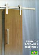 Kit Porta de Correr aço escovado ou cromado BRASILEIRO