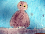 Grandchild Art ... Winsome Little Owl