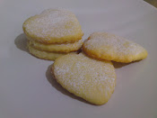 heart shape lemon cookies