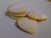 heart shape lemon cookies