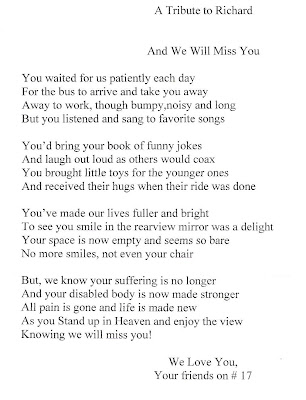 Bus Driver Thank You Poems