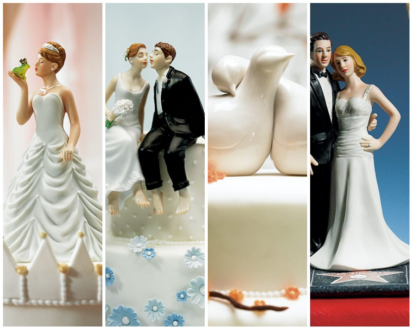 Kick off your happily ever after with a fairytale wedding cake topper
