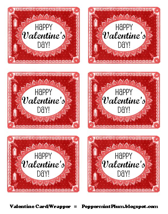 Crafty image with free printable valentine tags