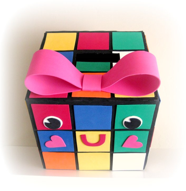 if your rubie box is also a girl dont forget to make a nice big bow to place on her head if your rubie is a boy you could do a bow tie instead