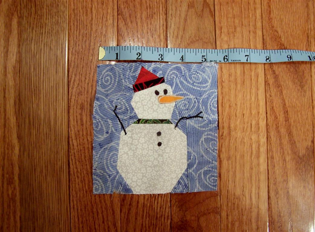 Zoey Quilts Free Snowman Quilt Paper Pieced Block