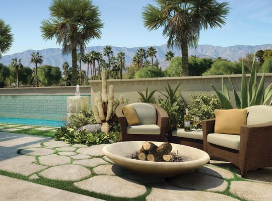 luxury home gardens modern residential