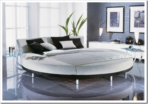 modern and stylish bedroom round bedroom bed - Stylish Bedroom Design