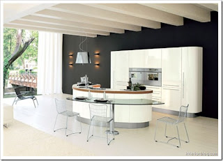 OVAL KITCHEN FURNITURE DESIGN | LUXURY KITCHEN DESIGN