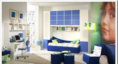 modern kids room furniture children bed, children desk, modern children cabinets