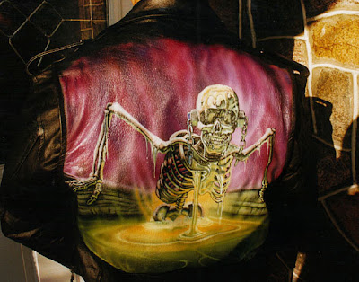 airbrushed on leather jacket