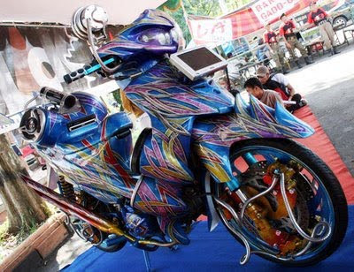 suzuki shogun 125 airbrush modified