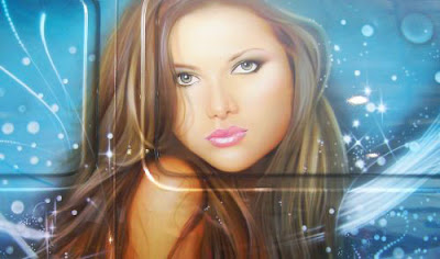 Beauty Face Airbrush on Cars