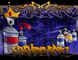 3d digital graffiti fonts