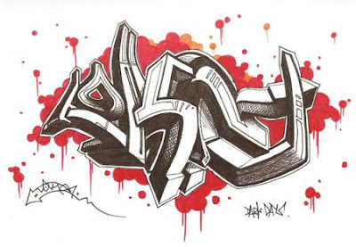 3D Graffiti Sketches Design