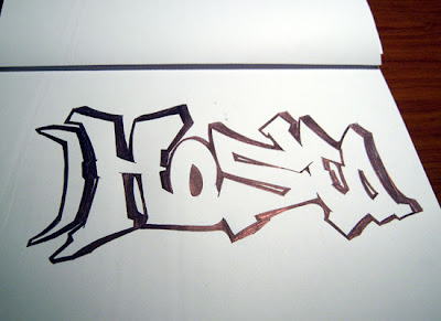 black white graffiti sketches