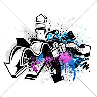 black white graffiti sketches