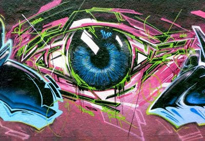 eyegasm graffiti idea