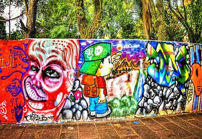 The graffiti background graffiti wall yogyakarta for Mural yogyakarta