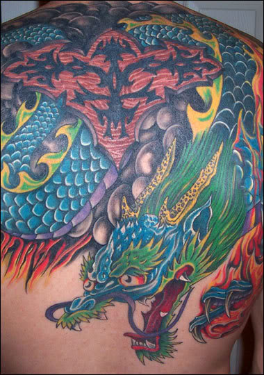 Sample Tattoos - Tribal Dragon Tattoo Popular Tattoos In world