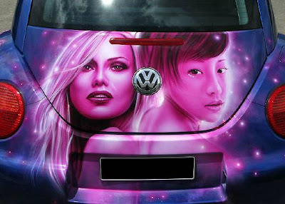 twin female design airbrush