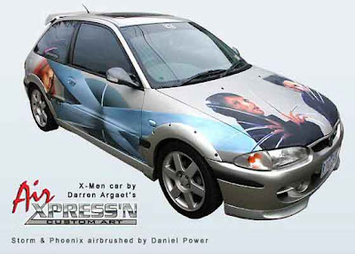 xmen car airbrush