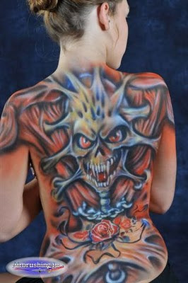 Airbrush Body Art Painting