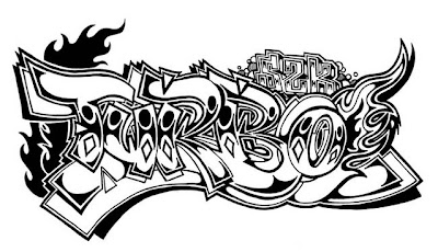 Graffiti Sketch Alphabet Letter