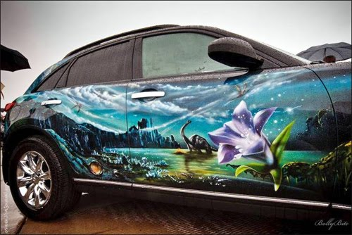 Airbrush car 19 for Car paint designs pictures
