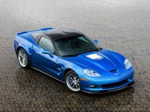chevrolet corvette 2010 blue color