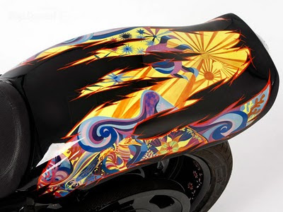 Modification sporty Airbrush Harley-Davidson Night Road 4