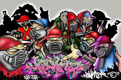 Graffiti HIp HOp Character Battle Graffiti Alphabet Letters Arrow