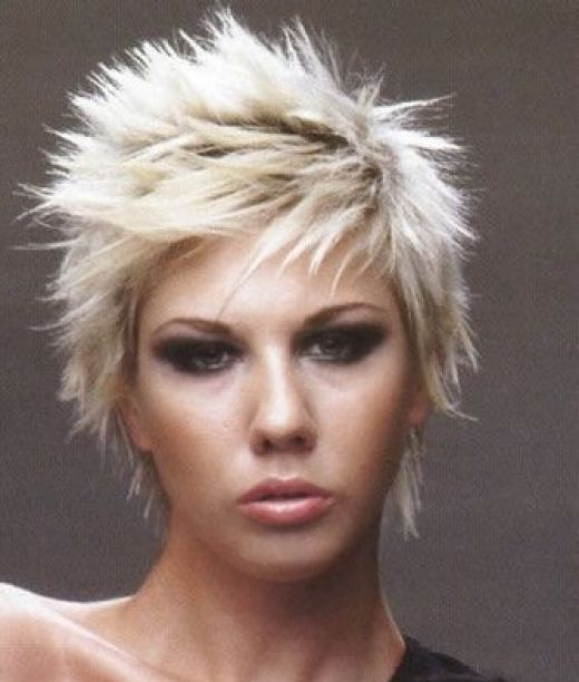 Short Funky hairstyles are very popular. Although they are the most common