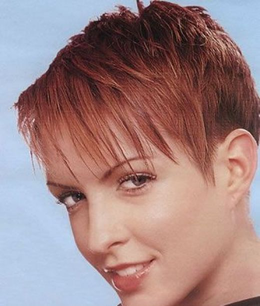 Pixie Hairstyles For Older Women. Funky Short Hairstyle.