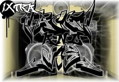 Graffiti alphabet letters styles 1