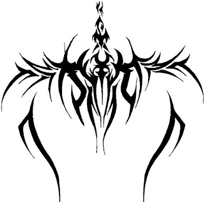 Spine Tribal Tattoos Design 2