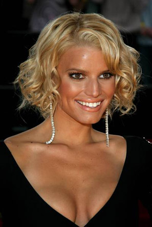 jessica simpson hair updo. Jessica simpson curly hair