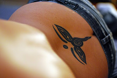 Simple Lower Back Tribal Tattoos view
