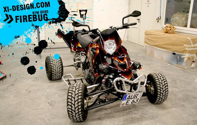 Firebug Quad Motorcycle Airbrush Design
