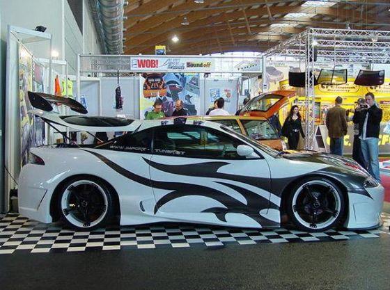 mitsubishi 3000gt tribal airbrush design car