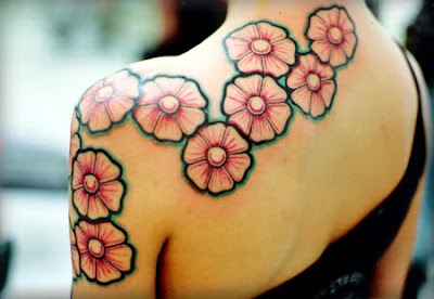 Awesome Designs Flower Tribal Tattoo 2