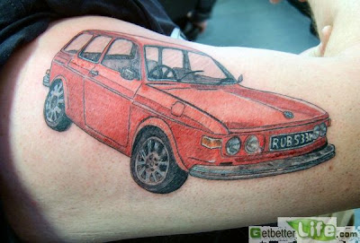 Car Tattoos Picture in Arm
