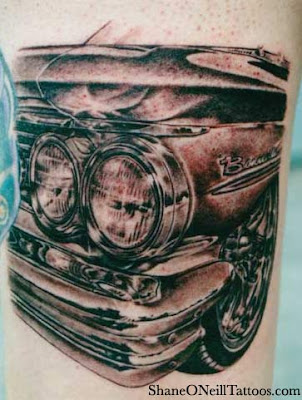 Classic Car Tribal Tattoo
