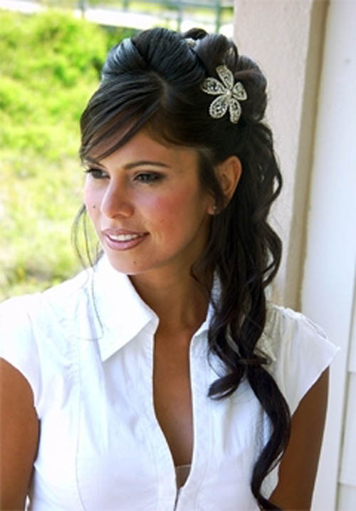 Brides With Long Hair. Down wedding Hairstyle Up Wedding Hairstyle