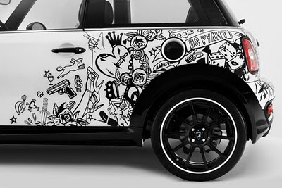 Mini Cooper Car Tribal Airbrush 10