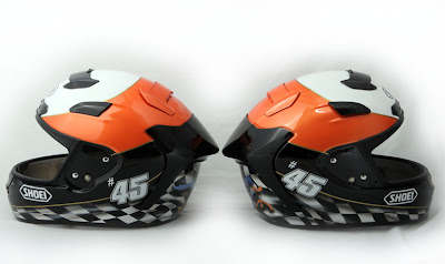 Martin Bauer's Helmet SHOEI Airbrushed Designs 1